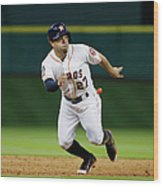 Seattle Mariners V Houston Astros Wood Print