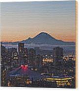Seattle Morning Glow Wood Print