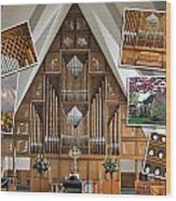 Seattle Organ  Wood Print