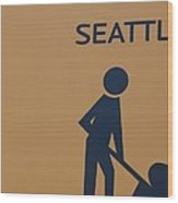 Seattle Wood Print