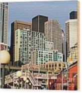 Seattle Skyline. Wood Print