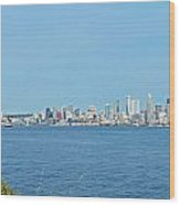 Seattle Skyline Panorama Wood Print