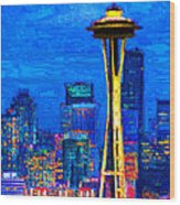 Seattle Space Needle 20130115v1 Wood Print