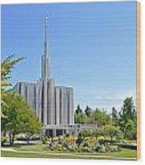 Seattle Temple - Horizontal Wood Print