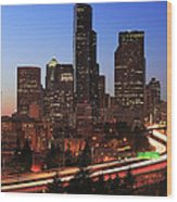 Seattle Traffic Wood Print