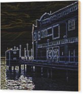 Seattle Waterfont Wood Print
