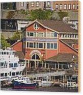 Seattle Waterfront Wood Print