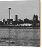 Seattle Waterfront Bw Wood Print