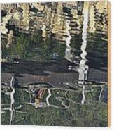 Seawalk Reflected Wood Print