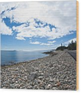 Seawall - Acadia Wood Print