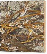 Seaweed Swirls Wood Print