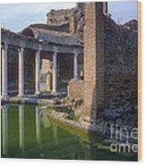 Second Century Villa Of Emperor Hadrian  Wood Print