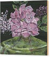 Second Hand Rose Wood Print