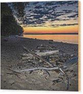 Seconds Before Potomac Sunrise Wood Print