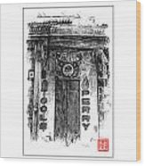 Secret Bison Club Wood Print