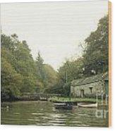 Secret Boathouse Wood Print