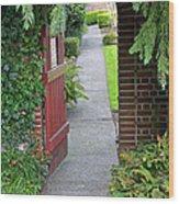 Secret Garden Door Wood Print