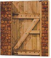 Secret Garden Gate Wood Print