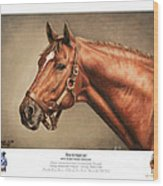 Secretariat Legendary Champion Wood Print