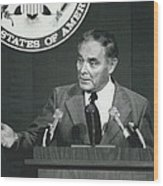 Secretary Haig Holds Press Conference Wood Print