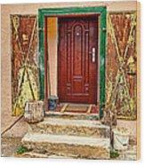 Secure Entrance Wood Print