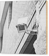 Security Camera Wood Print