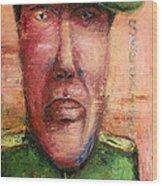 Security Guard - 2012 Wood Print by Nalidsa Sukprasert