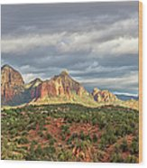 Sedona, Arizona And Red Rocks Panorama Wood Print