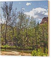 Sedona Arizona Cathedral Rock Panorama Wood Print