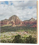 Sedona, Arizona, From Above Wood Print