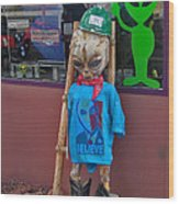 Sedona Arizona Grey Alien Wood Print
