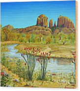 Sedona Arizona Wood Print by Jerome Stumphauzer