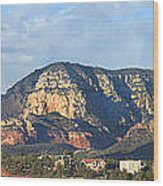 Sedona Arizona Panoramic Wood Print by Mike McGlothlen