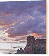 Sedona Arizona Sunset Wood Print