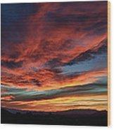 Sedona Az Sunset 1 Wood Print