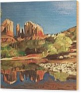 Sedona Cathedral Rock Wood Print