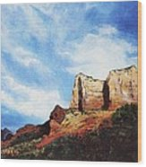 Sedona Mountains Wood Print
