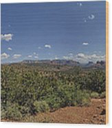 Sedona Panorama In 5 Pictures Wood Print