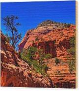 Sedona Rock Formations V Wood Print