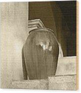 Sedona Series - Jug In Sepia Wood Print
