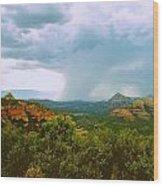 Sedona Storm Wood Print