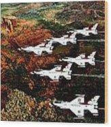 Sedona Thunderbirds Wood Print by Benjamin Yeager