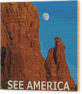 See America - Coconino National Forest Wood Print