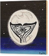 See Creature's Moon Wood Print