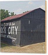 See Rock City Barn Wood Print