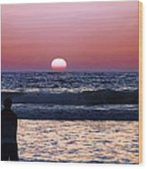 See The Sun Set Wood Print by Camille Lopez