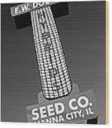 Seed Company Sign 1.1 Wood Print