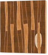 Seed Of Learning No. 1 Wood Print by Carol Leigh