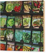 Seed Packets Wood Print