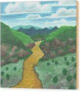 Seeded Waterway Wood Print